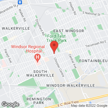 Map of Burger King at 2850 Tecumseh Rd East, Windsor, ON N8W 1G4