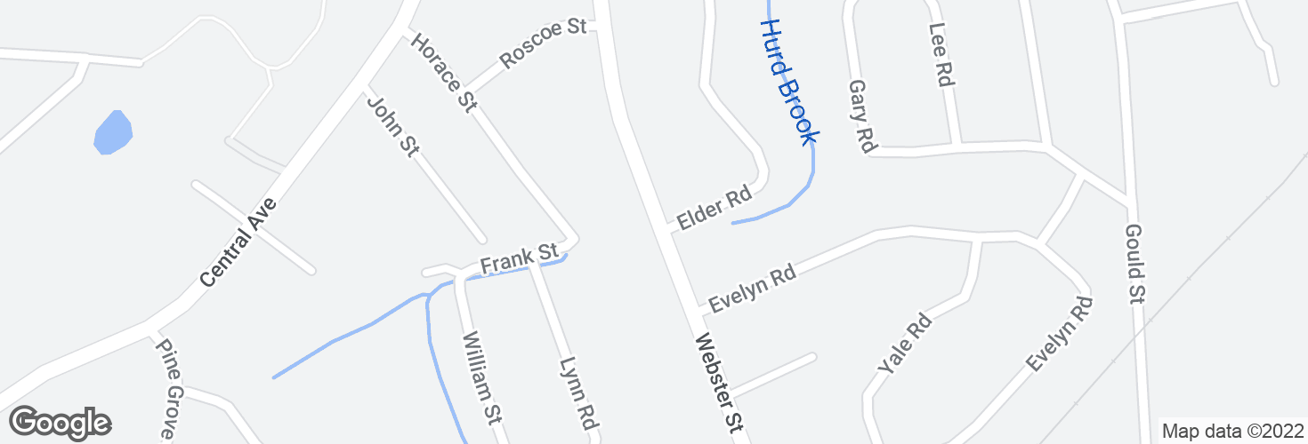 Map of Webster St opp Elder Rd and surrounding area
