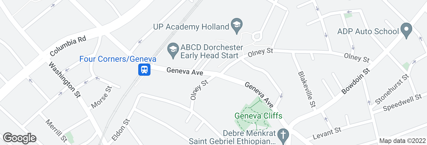 Map of Geneva Ave @ Olney St and surrounding area