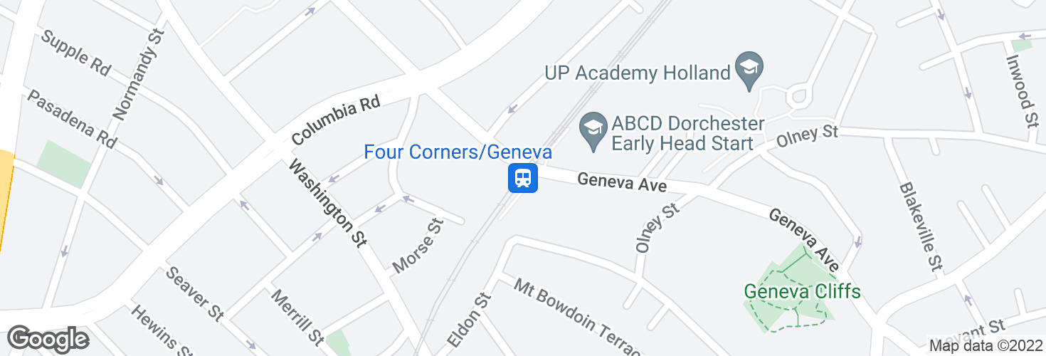 Map of Four Corners/Geneva and surrounding area