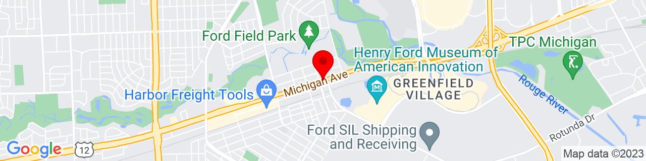 Google Map of 42.3063851, -83.2434262