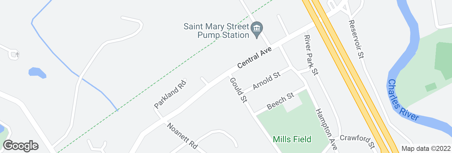Map of Central Ave @ Gould St and surrounding area
