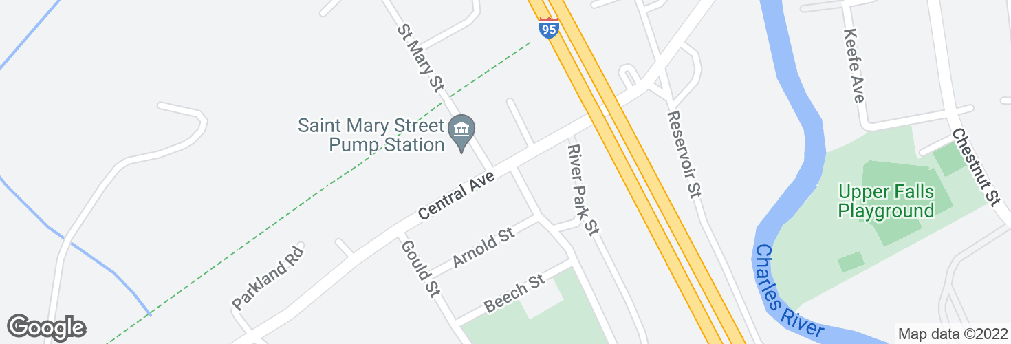 Map of Central Ave @ Hampton Ave and surrounding area