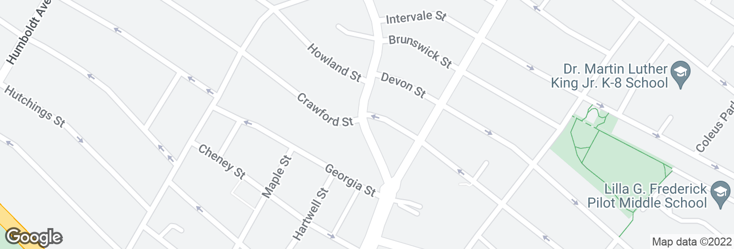 Map of Warren St @ Sunderland St and surrounding area