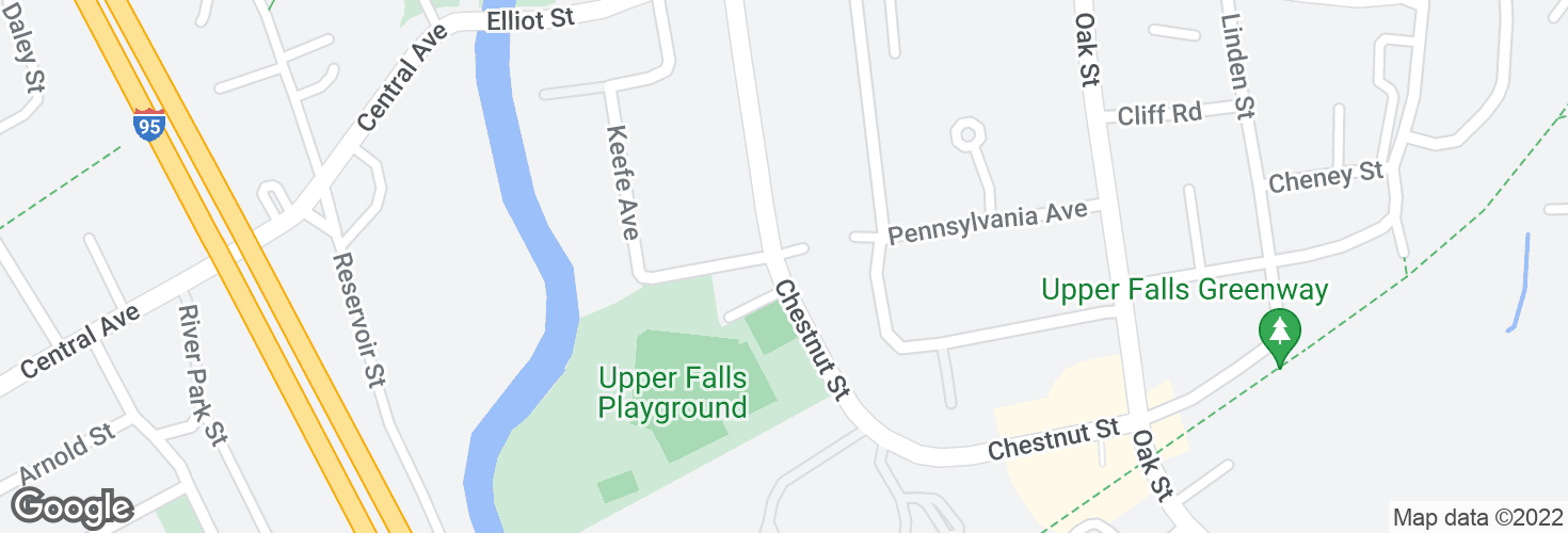 Map of Chestnut St @ Pennsylvania Ave and surrounding area