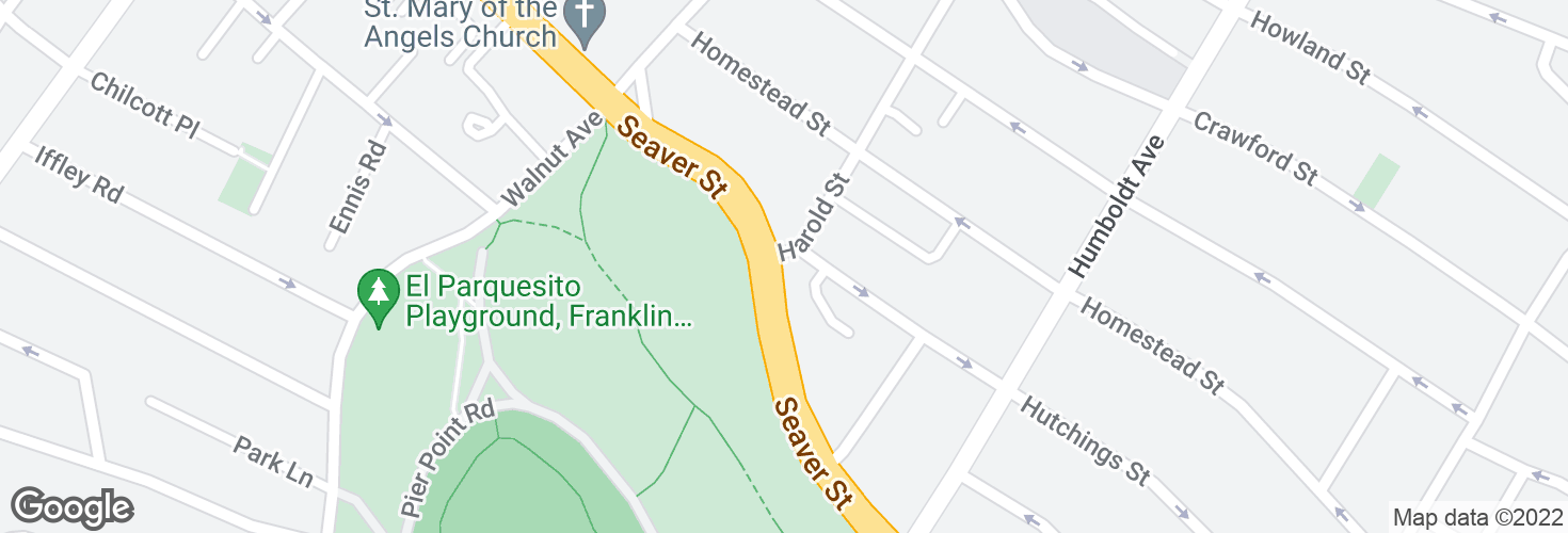 Map of Seaver St @ Harold St and surrounding area