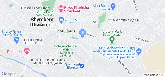 Расположение гостиницы Достык на карте
