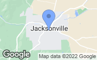 Map of Jacksonville, OR