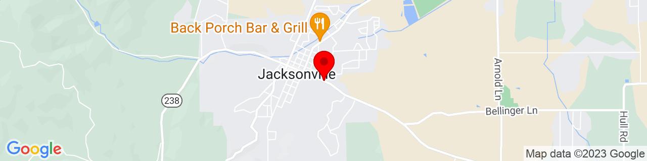 Google Map of 42.3125586, -122.9623345