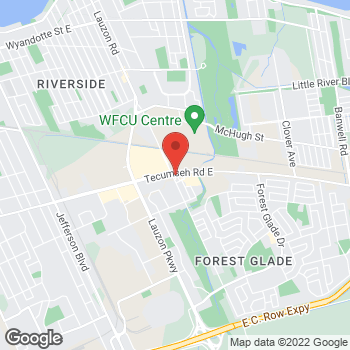 Map of Burger King at 7955 Tecumseh Rd East, Windsor, ON N8R 1A1