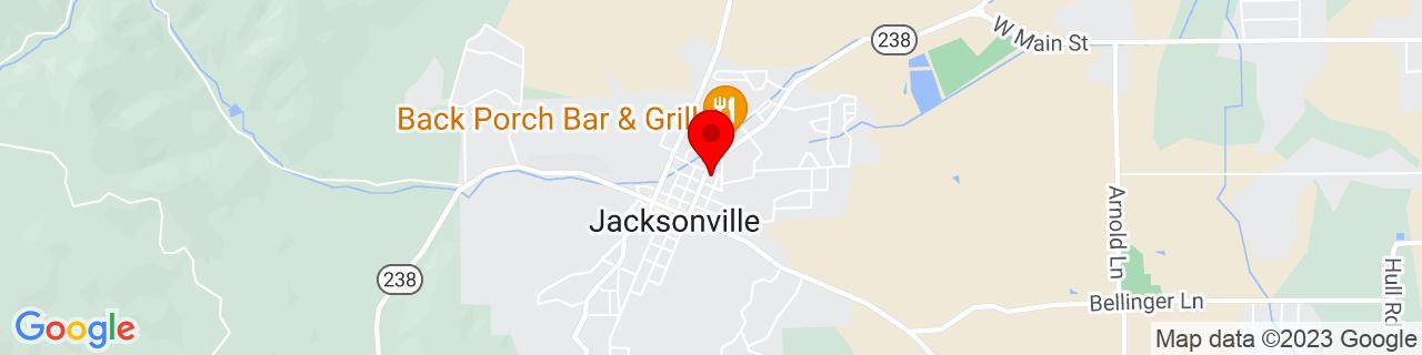 Google Map of 42.315953, -122.964101