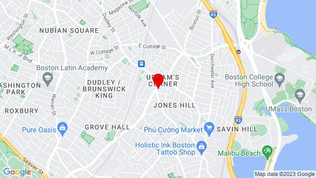 Google Map of 543 Columbia Road, Boston, MA 02125