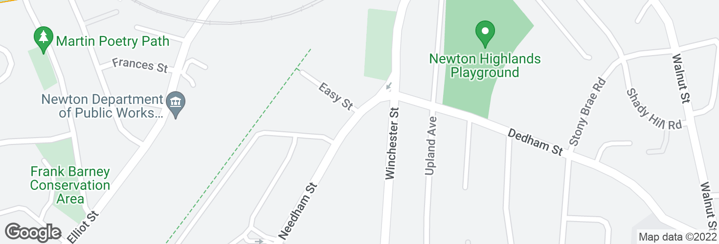 Map of Needham St opp Easy St and surrounding area
