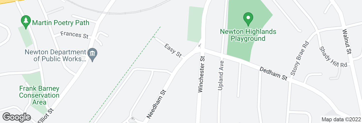 Map of Needham St @ Easy St and surrounding area