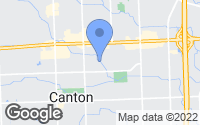 Map of Canton, MI
