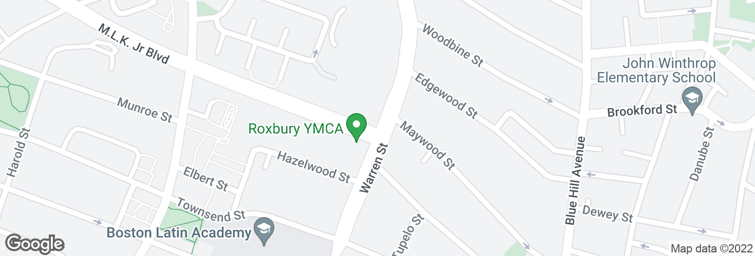 Map of Warren St @ ML King Blvd and surrounding area