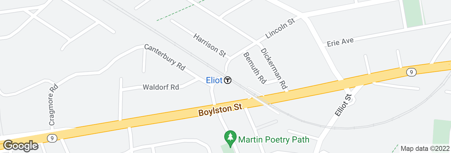 Map of Eliot and surrounding area