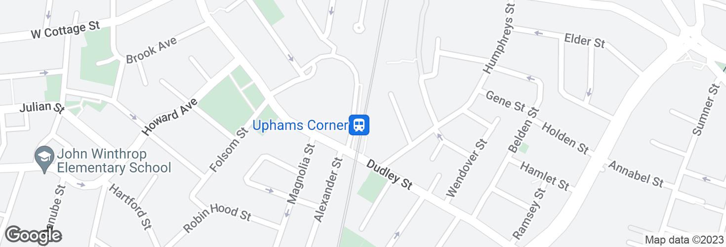 Map of Uphams Corner and surrounding area