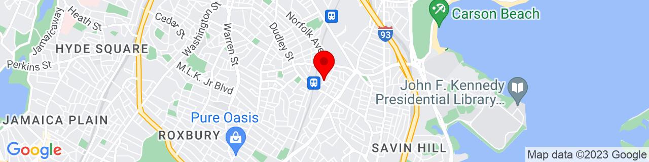 Google Map of 42.319334, -71.067008