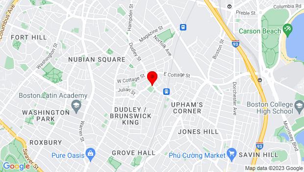 Google Map of 613 Dudley St., Boston, MA 02125