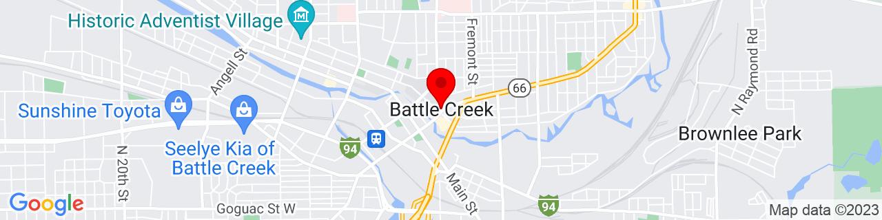 Google Map of 42.3211522, -85.17971419999999