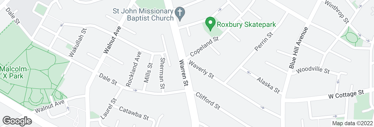 Map of Warren St @ Waverly St and surrounding area