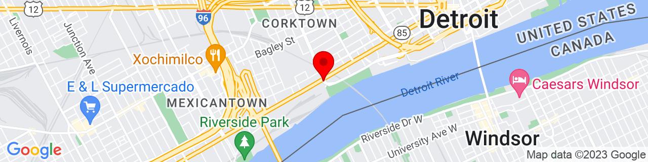 Google Map of 42.32207409999999, -83.0666782