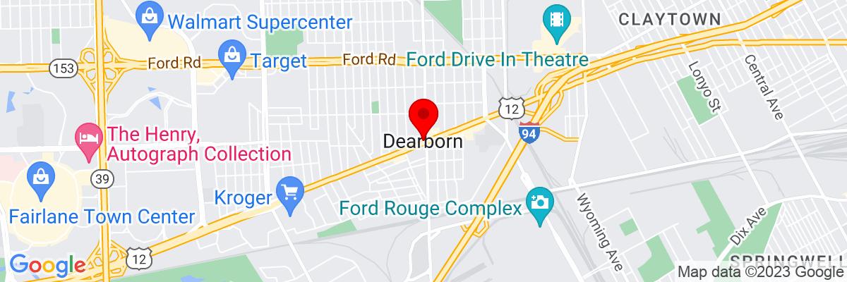 Google Map of 42.32226,-83.176314444444