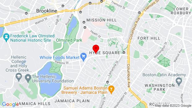 Google Map of 361 Centre Street, Jamaica Plain, MA 02130