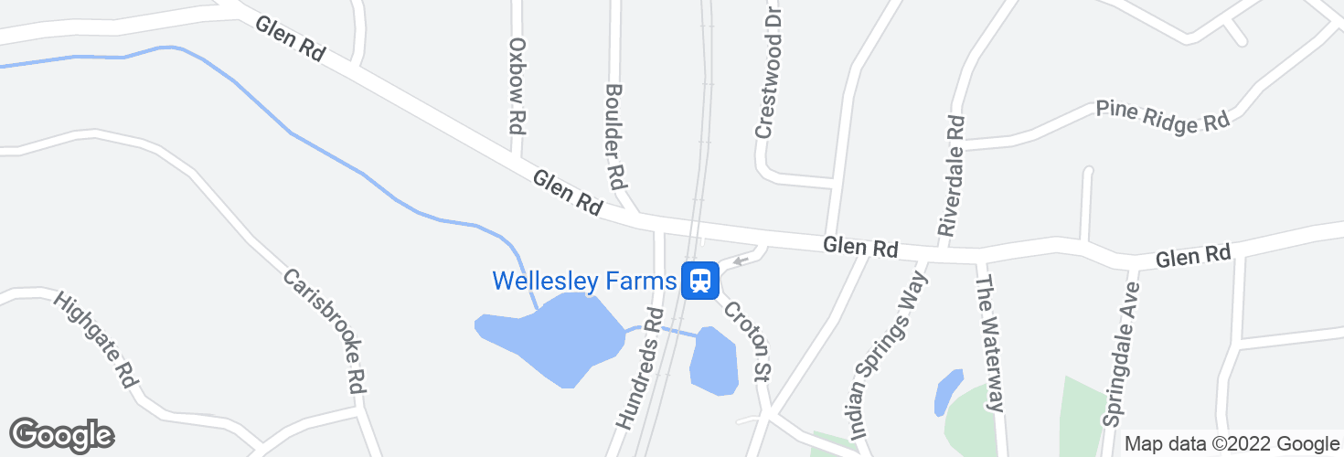 Map of Wellesley Farms and surrounding area