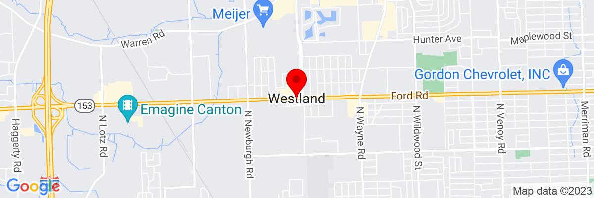 Google Map of 42.324203888889,-83.400211111111