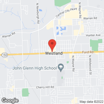 Map of Verizon Authorized Retailer - TCC at 36610 Ford Road, Westland, MI 48185