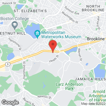 Map of SMG Chestnut Hill Primary Care & Ob/Gyn at 822 Boylston Street, Chestnut Hill, MA 02467