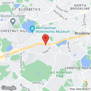 Map of Gordon Novak, MD at 822 Boylston Street, Chestnut Hill, MA 02467
