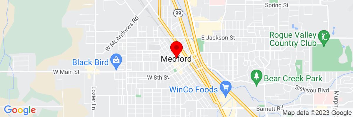 Google Map of 42.326515277778,-122.875595
