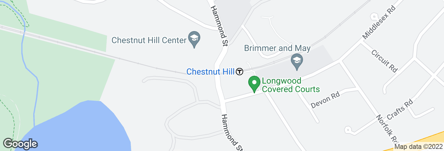 Map of Chestnut Hill and surrounding area