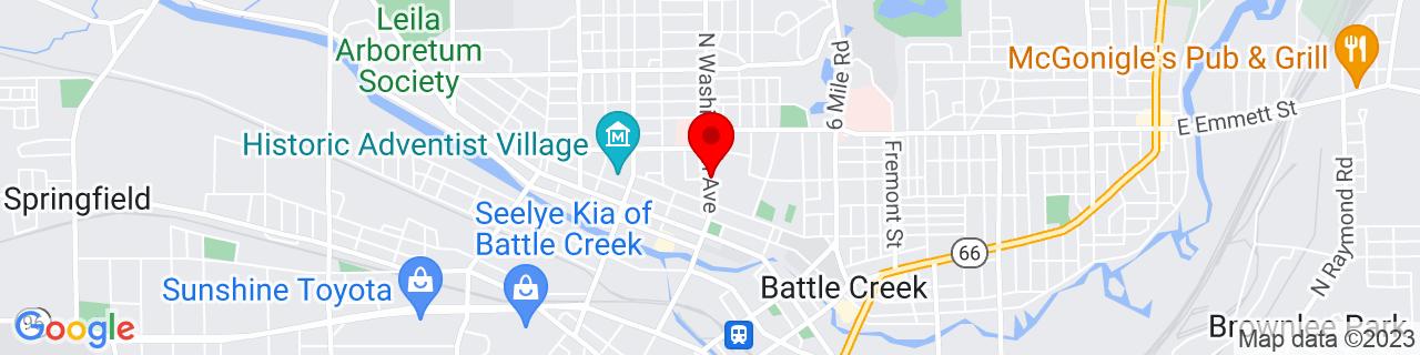 Google Map of 42.3274118, -85.19000229999999