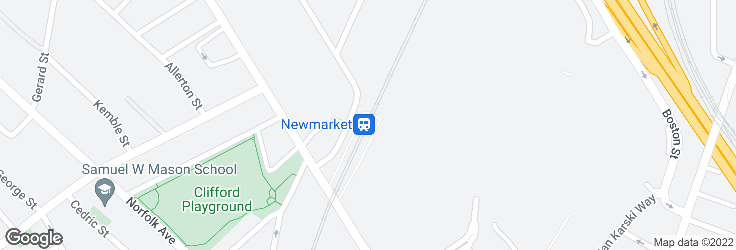Map of Newmarket and surrounding area