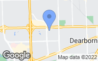 Map of Dearborn, MI