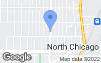 Map of North Chicago, IL