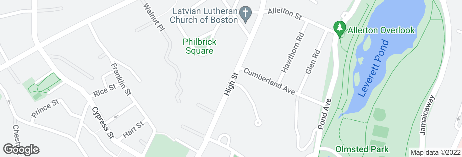 Map of High St opp Edgehill Rd and surrounding area