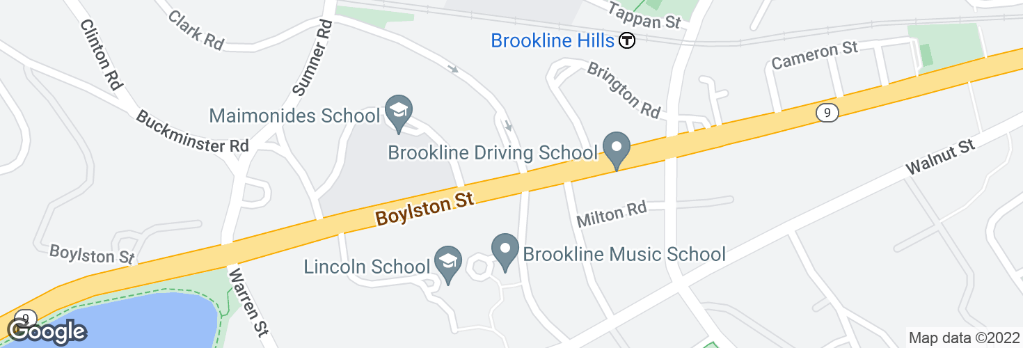 Map of Boylston St @ Clark Rd and surrounding area