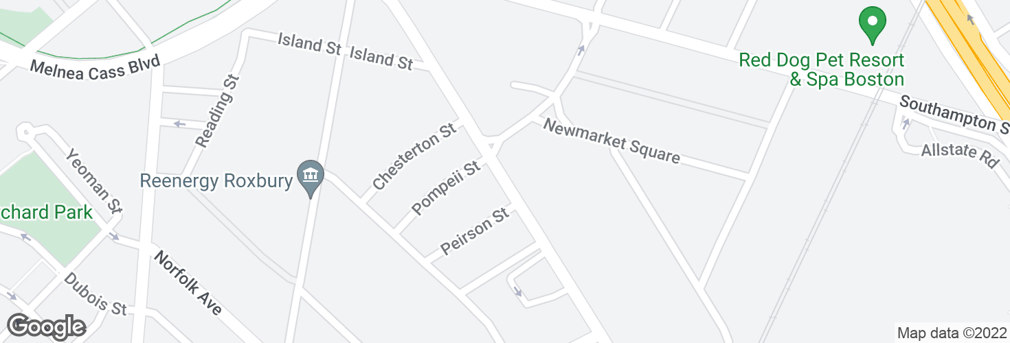 Map of Massachusetts Ave @ Theo Glynn Way and surrounding area