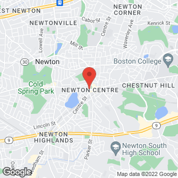 Map of Liberty Travel at 821 Beacon St, Newton, MA 02459