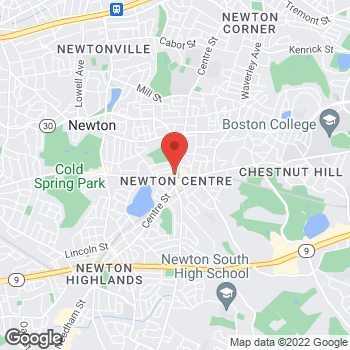 Map of Panera Bread at 1241 Centre Street, Newton, MA 02459
