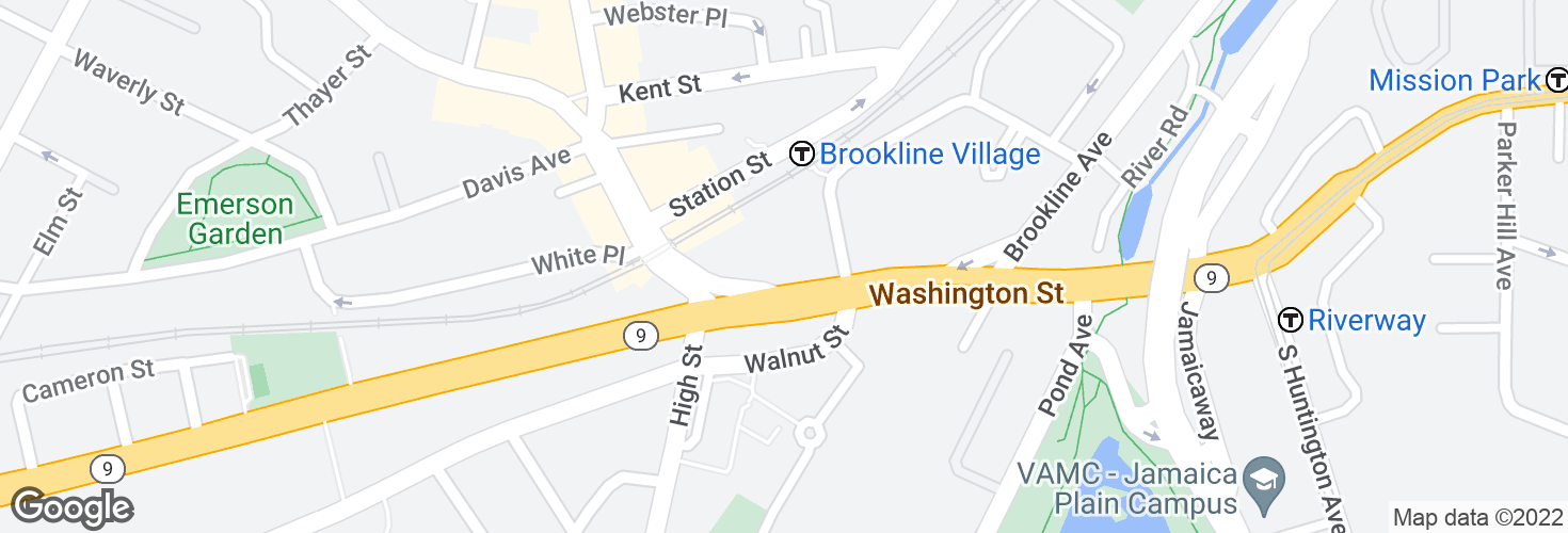 Map of Washington St @ Pearl St and surrounding area