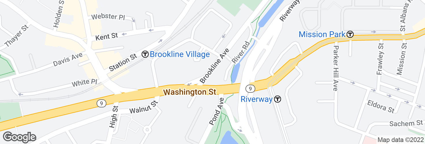 Map of 678 Brookline Ave opp Pearl St and surrounding area