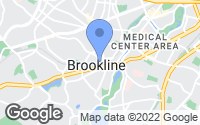 Map of Brookline, MA
