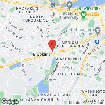 Map of Albert Franco, MD at One Brookline Placesuite 301, Brookline, MA 02445