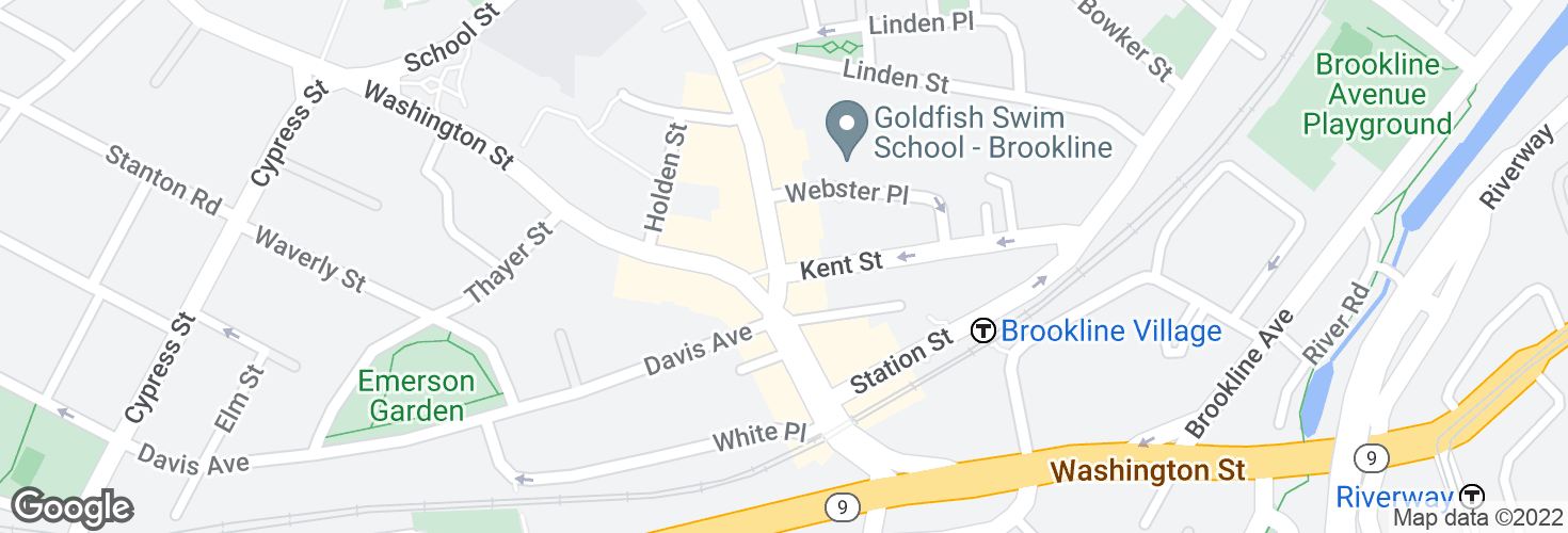 Map of Harvard St @ Kent St and surrounding area